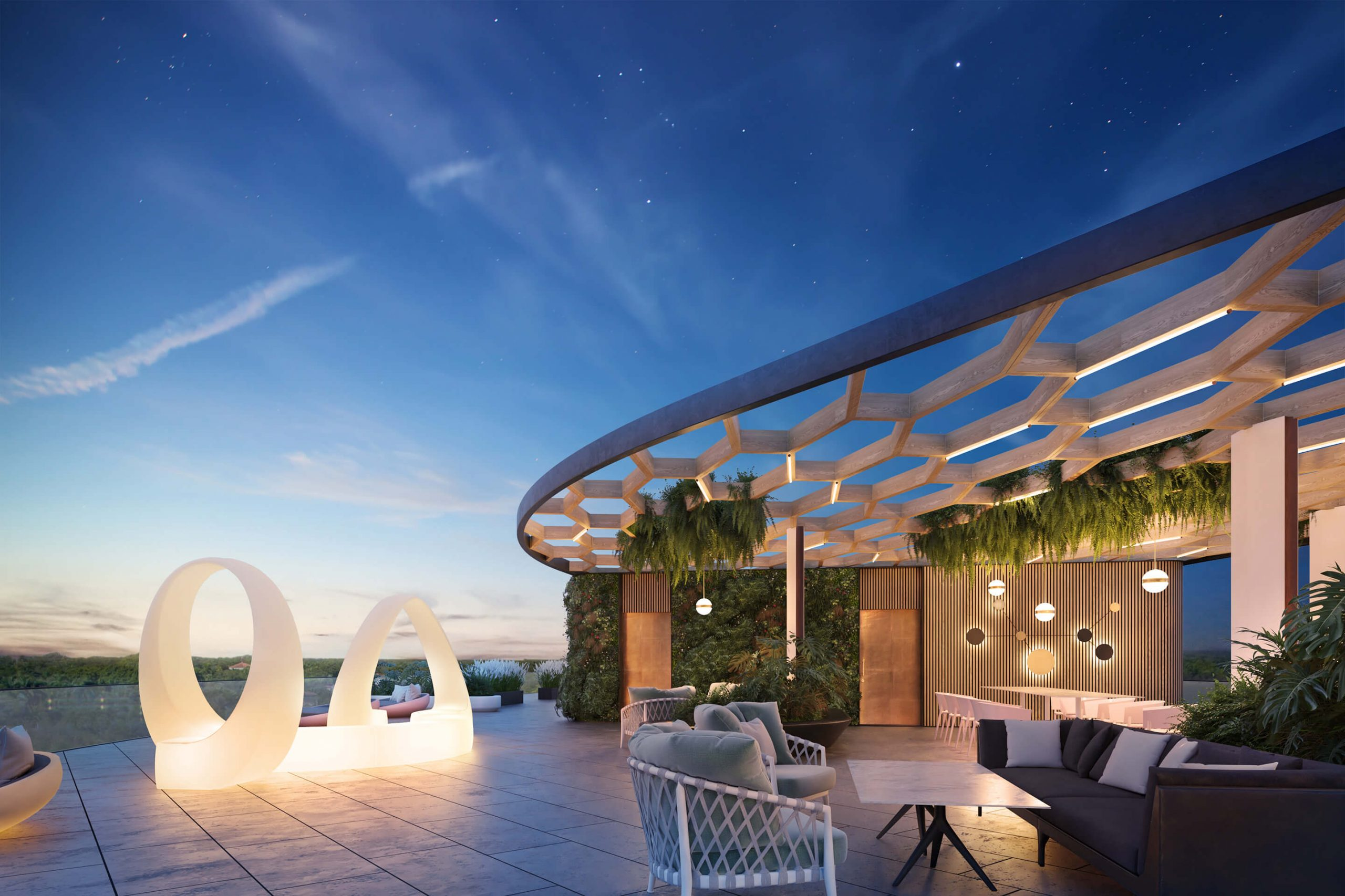 MARITIMA RESIDENCES <br/> Roof top lounge area design