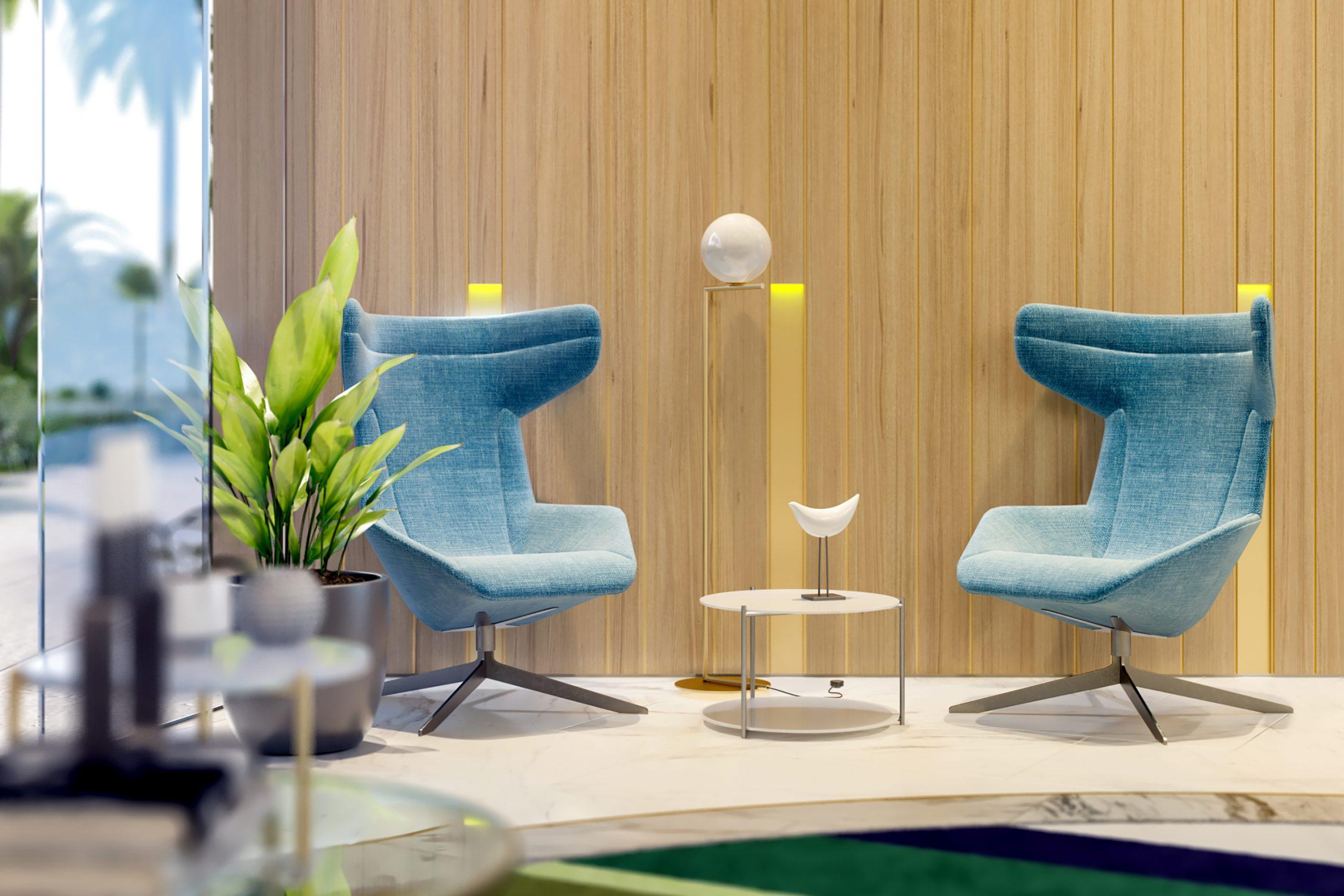 MARITIMA RESIDENCES <br/> Lobby design