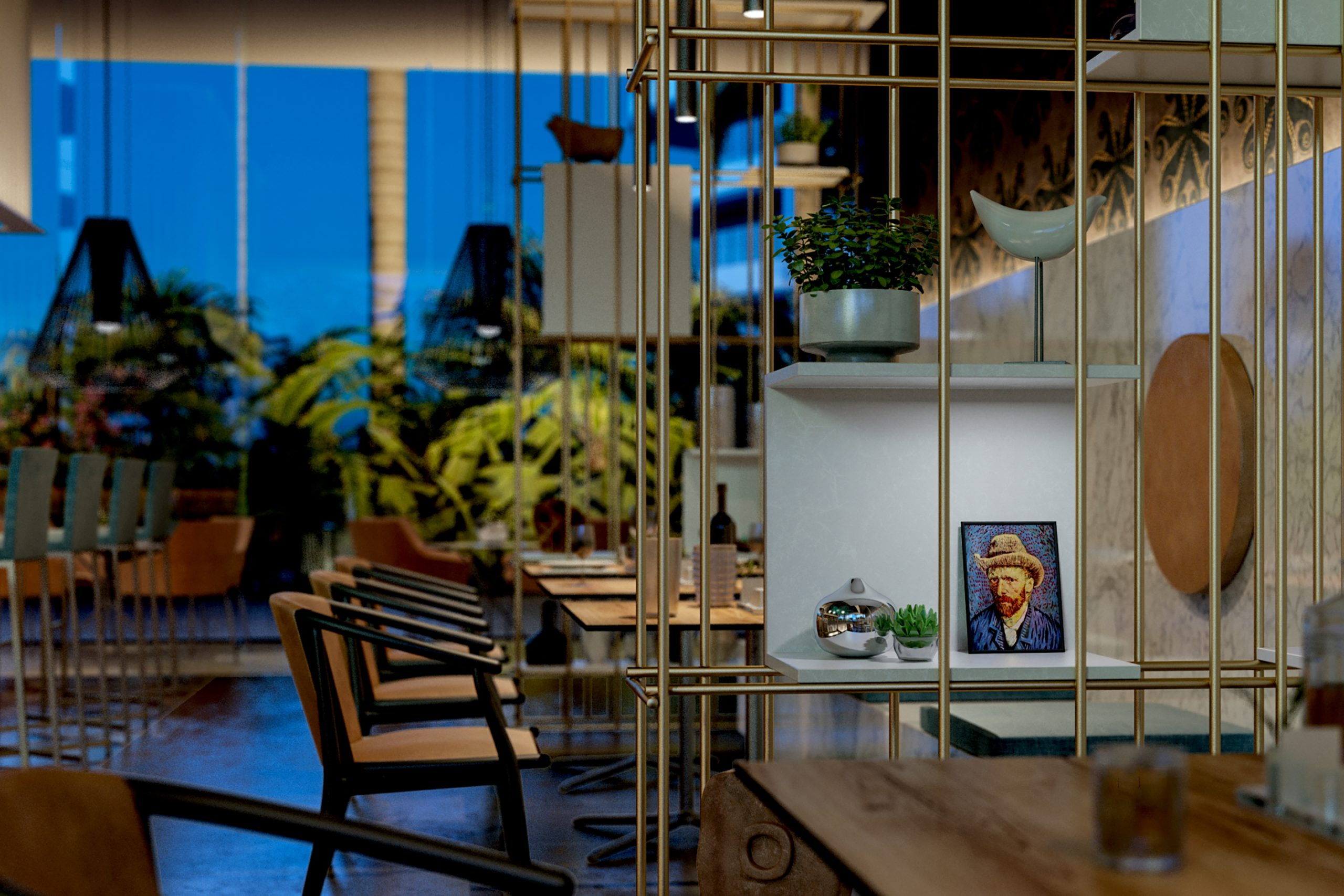 MARITIMA RESIDENCES <br/> Lounge bar interiors