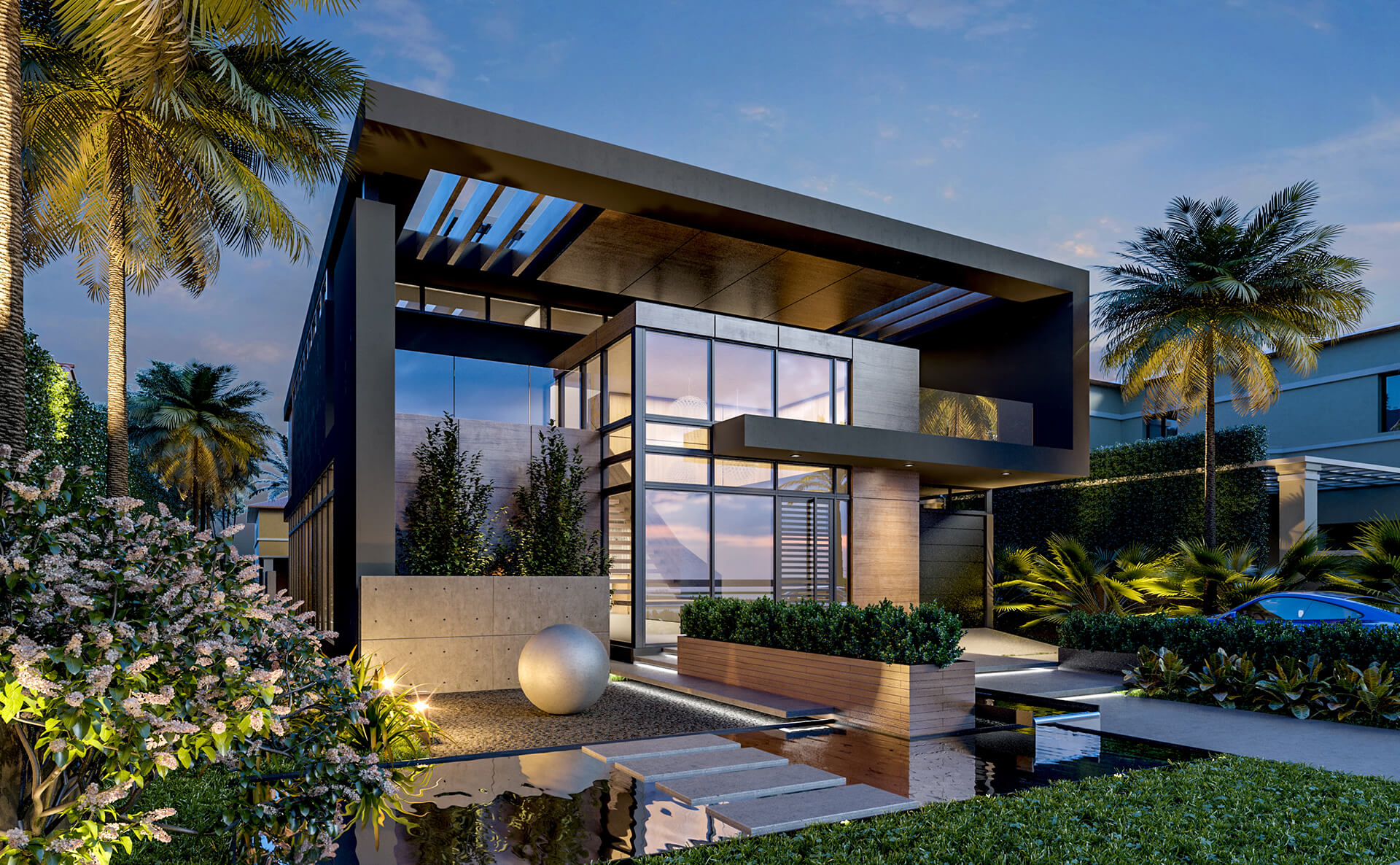 PINE TREE DRIVE <br/> New designed modern residence